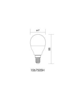 imagem de Lâmpada LED Globe Plástico Opala 7
