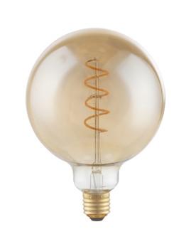 imagem de Lâmpada LED Globe Vidro Âmbar Transparente 1