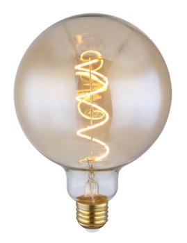 imagem de Lâmpada LED Globe Vidro Âmbar Transparente 2