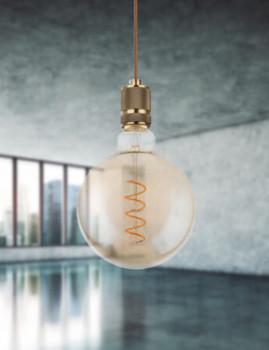 imagem de Lâmpada LED Globe Vidro Âmbar Transparente 3
