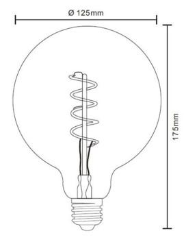 imagem de Lâmpada LED Globe Vidro Âmbar Transparente 6