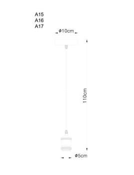 imagem de Cabo de Suspensão Globo Suspension Cromado4