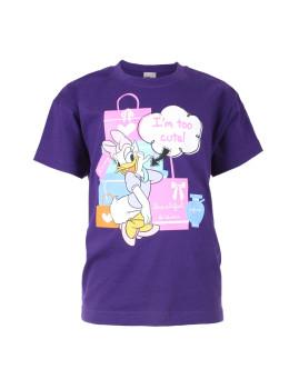 T-shirt Disney Too Cute Criança Roxo