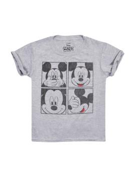 T-shirt Disney Mickey Grid Criança Cinza