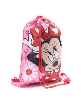 Saco Ginástica Disney Minnie Flowers Criança Vermelho