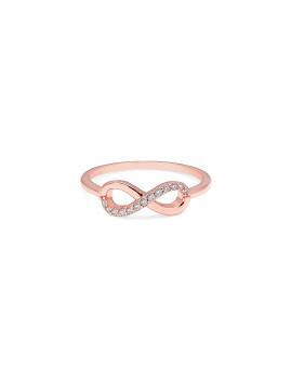 Anel Infinity Tamanho 8 Rosa Dourado