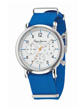 Relógio Pepe Jeans Charlie Prateado e Azul