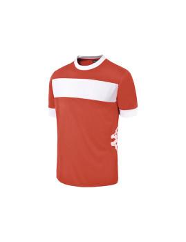T-Shirt Remilio Kappa Homem carmesin Vermelho , Branco