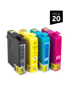 PACK 20 Cartuchos de tinta genéricos ZP-EPSON T291 + T292 + T293+ T194