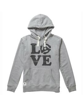 Hoodie Seventyseven Love Vinyl Cinzento