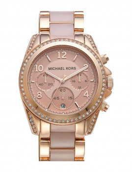 Relógio Michael Kors Blair Dourado Rosa e Rosa Senhora