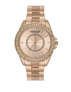 Relógio Siena Rosa Dourado Vipdeluxe Swarovski Elements
