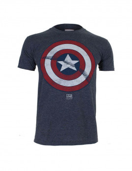 T-shirt Marvel  Captain America Shield Azul Navy