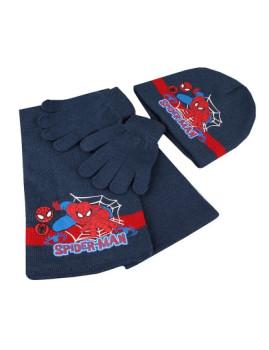 Conjunto Gorro, Luvas e Cachecol Marvel Criança Spidey Crawl Azul Navy
