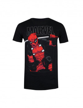 T-Shirt Sword Deadpool  Preto