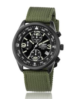 Relógio Masculino Preto e Verde