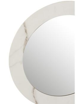 imagem de espelho em Mármore Mdf e Vidro Branco Pequeno2