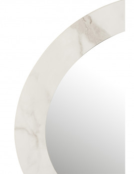 imagem de espelho em Mármore Mdf e Vidro Branco Grande2