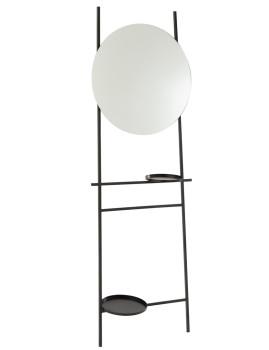 imagem de espelho Com 2 Pranchas em Ferro e Vidro Preto1