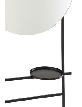 imagem de espelho Com 2 Pranchas em Ferro e Vidro Preto3