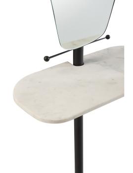 imagem de espelho + estante de Mármore e Ferro Preto2