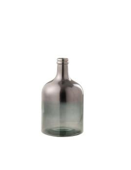 imagem de Vaso Pequeno de Garrafa de Cristal Metálico Cinza 1