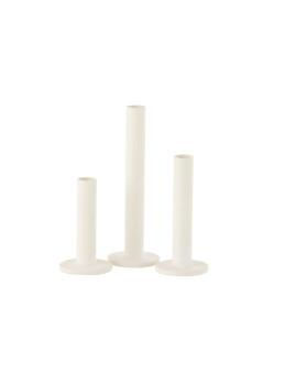 imagem de Cojunto de 3 Candelabros Ferro Opaco Branco1