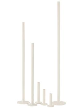 imagem de Cojunto de 3 Candelabros Ferro Opaco Branco3