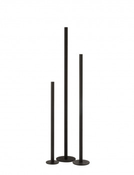 imagem de Conjunto 3 Candelabros Ferro Opaco Preto1
