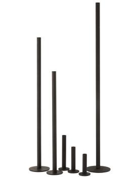imagem de Conjunto 3 Candelabros Ferro Opaco Preto3