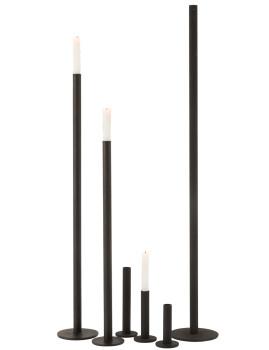imagem de Conjunto 3 Candelabros Ferro Opaco Preto5