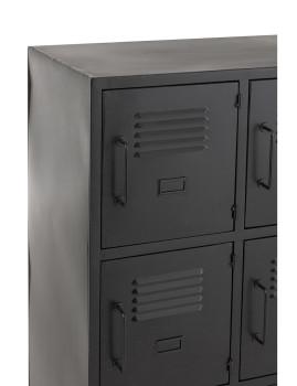 imagem de Armário 9 Portas Metal Preto6
