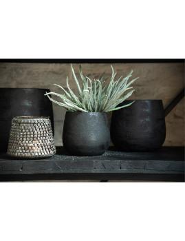 imagem de Vaso Médio de Cerâmica Preta2