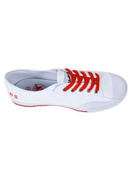 Ténis ShuStreet Low Branco & Vermelho