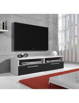 Móvel de TV Caledonia Branco e Preto