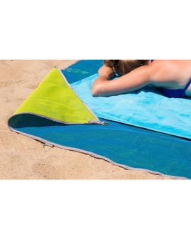 Desfrutar de uma ida à praia sem se sentir incomodado com a areia! É possível com a Toalha XXL Sandless Beach em Azul! Veja o Vídeo!