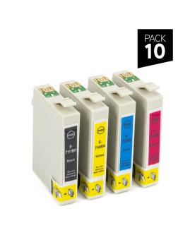 PACK 10 Cartuchos de tinta genéricos ZP-EPSON T711 + T712 + T713 + T714