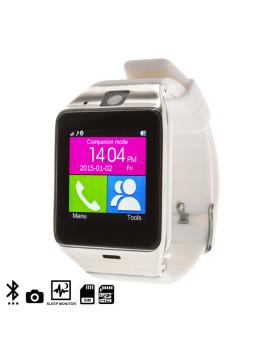 Smartwatch Gv 18 Com Bluetooth Branco/Prateado
