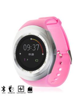 Smartwatch Azultooth com Tela Circular, Sim e Micro Sd Rosa