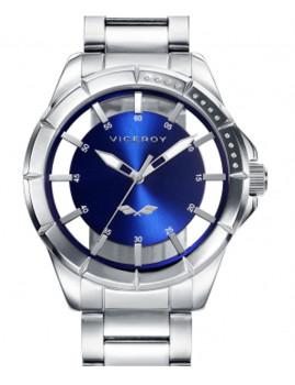 Relógio Viceroy Prateado e Azul