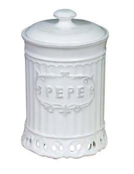 Frasco de pimenta 10 x 10 x 16,5 cm Branco