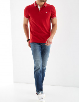 Pólo Piquet Homem Sport Sacoor Vermelho