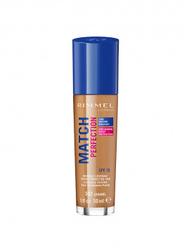 Base Rimmel London Match Perfection #502 Caramel 30 Ml