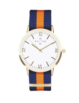 Relógio Nelton Malibu Branco Dourado