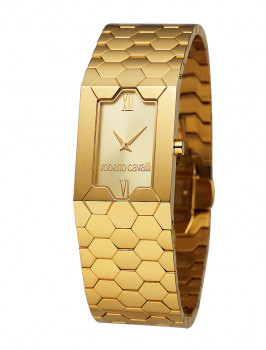 Relógio Roberto Cavalli Beehive Dourado