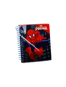 MINI bloco de Notas 9X11cms SPIDERMAN Vermelho