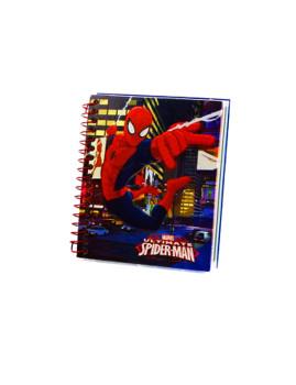 MINI bloco de Notas 9X11cms SPIDERMAN Azul
