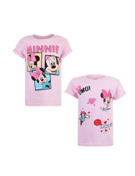 T-shirt Disney Pack 19 Criança Rosa Claro