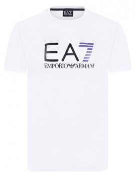 T-shirt Emporio Armani Branca, Roxa e Preta