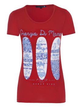 T-Shirt de Manga Curta Vermelho Senhora Giorgio di Mare